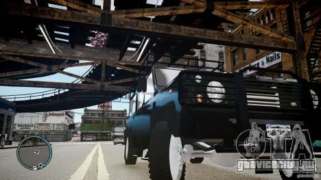 Land Rover Defender для GTA 4 вид сбоку