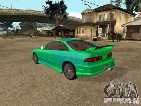 Honda Integra 2000 для GTA San Andreas вид снизу