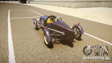 Vintage race car для GTA 4 вид сзади слева