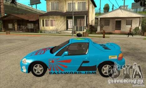 Honda CRX - DelSol для GTA San Andreas вид слева