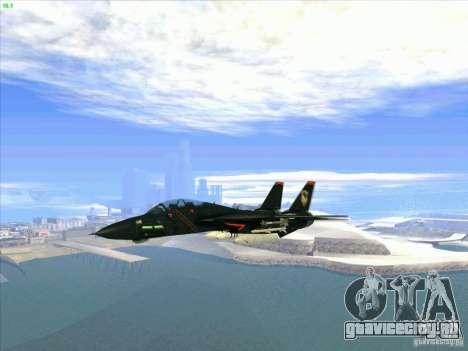 F-14 Tomcat Razgriz для GTA San Andreas вид изнутри