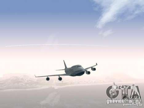 Boeing 747-400 China Airlines для GTA San Andreas вид сверху