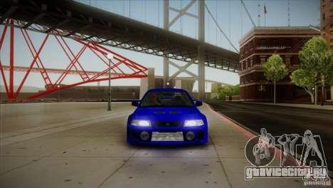 Mitsubishi Lancer Evolution lX для GTA San Andreas вид изнутри