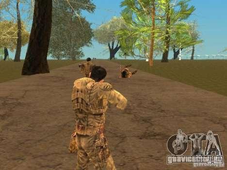 Дегтярев из Сталкера для GTA San Andreas шестой скриншот