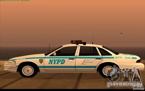 Ford Crown Victoria 1992 NYPD для GTA San Andreas вид слева
