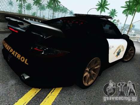 Porsche 911 GT2 RS (997) Police для GTA San Andreas вид сзади