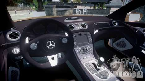 Mercedes-Benz SL65 AMG Black Series для GTA 4 вид сзади
