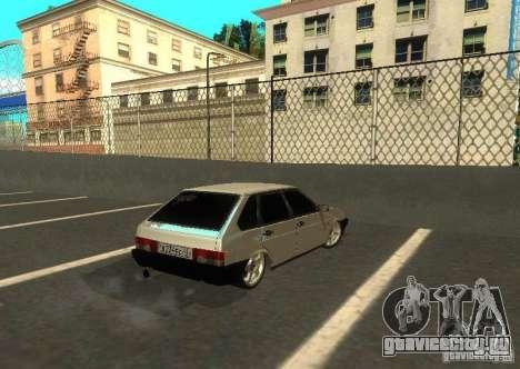 Ваз 2109 ак-47 для GTA San Andreas вид сзади слева