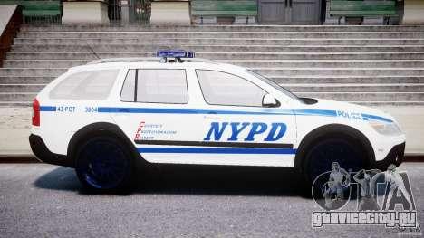 Skoda Octavia Scout NYPD [ELS] для GTA 4 вид слева