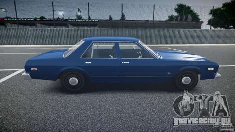 Dodge Aspen v1.1 1979 для GTA 4 вид изнутри