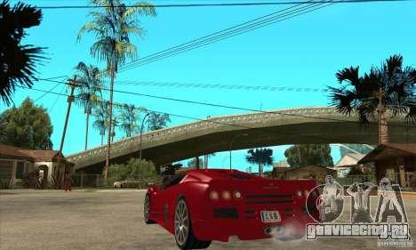 SSC Ultimate Aero Stock version для GTA San Andreas вид сзади слева