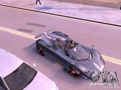 Pagani Zonda Cinque Roadster v 2.0 для GTA 4 вид сзади слева