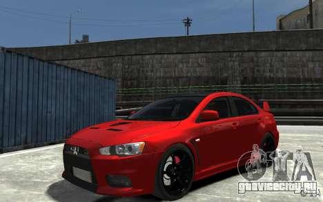 Mitsubishi Lancer Evo X v.1.0 для GTA 4