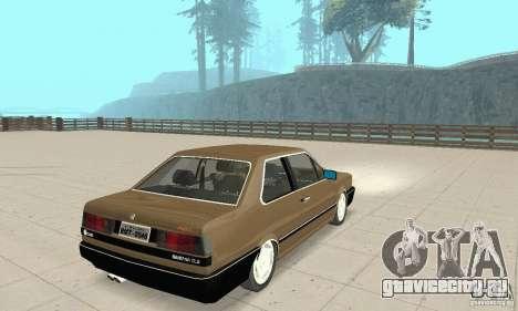 Volkswagen Santana GLS 1989 для GTA San Andreas вид сзади слева