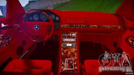 Mercedes Benz SL600 W140 1998 higher Performance для GTA 4 вид сбоку