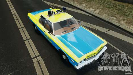 Dodge Monaco 1974 Police v1.0 [ELS] для GTA 4 салон