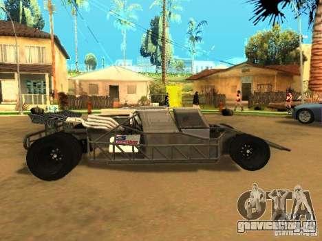 Fast & Furious 6 Flipper Car для GTA San Andreas вид изнутри