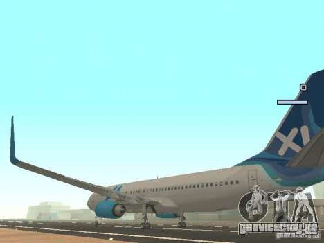 XL Airways 737-800 для GTA San Andreas вид сзади слева
