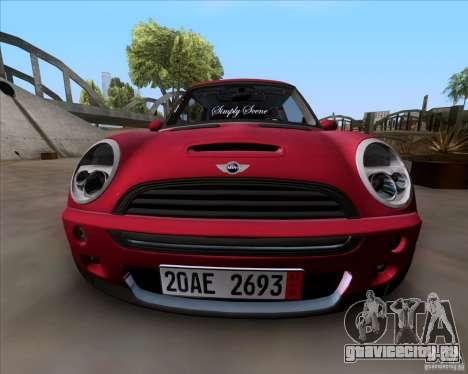 Mini Cooper S Euro для GTA San Andreas вид сзади слева