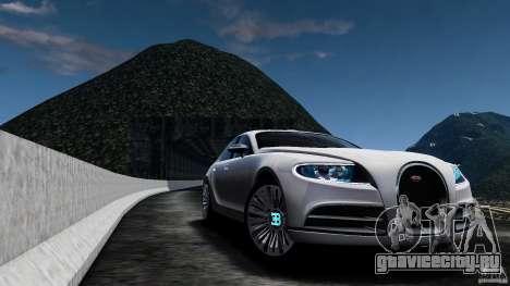 Bugatti Galibier 2009 для GTA 4 вид изнутри