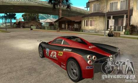 Pagani Huayra ver. 1.1 для GTA San Andreas вид справа