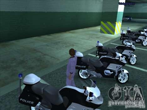 CopBike для GTA San Andreas вид сзади слева