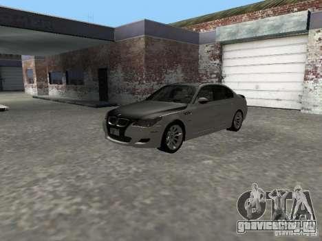 BMW M5 E60 2009 v2 для GTA San Andreas вид изнутри