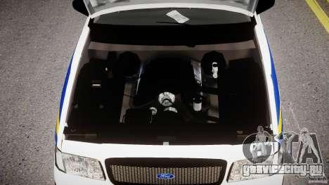Ford Crown Victoria Croatian Police Unit для GTA 4 вид изнутри