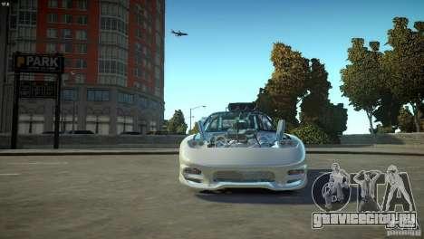 Mazda rx7 Dragster для GTA 4 вид изнутри