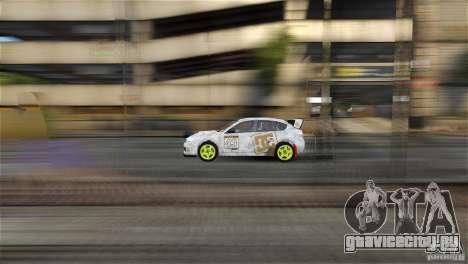 Subaru Impreza WRX STI Rallycross DC Gold Vinyl для GTA 4 вид сзади слева