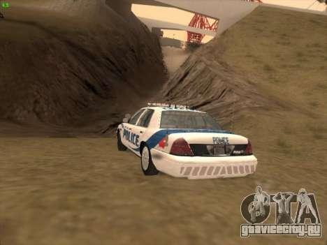 Ford Crown Victoria Vancouver Police для GTA San Andreas вид сбоку