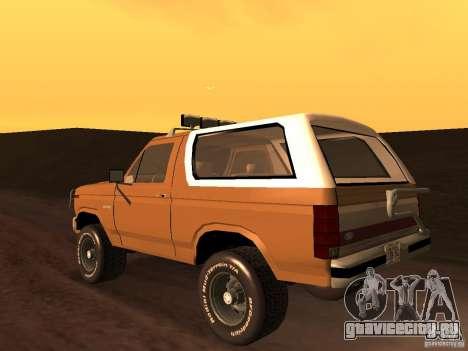 Ford Bronco 1985 для GTA San Andreas вид слева