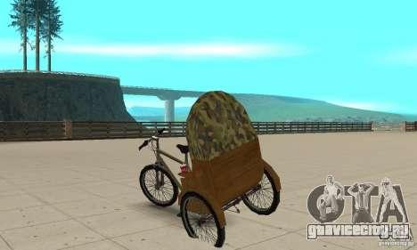 Manual Rickshaw v2 Skin2 для GTA San Andreas вид сзади слева