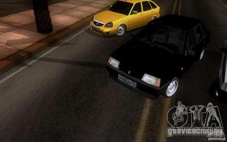Ваз 21099 Синька для GTA San Andreas вид сзади