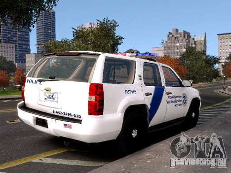 Chevrolet Tahoe Homeland Security для GTA 4 вид слева