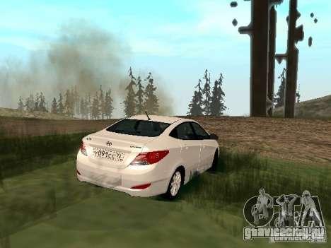 Hyundai Solaris для GTA San Andreas вид слева
