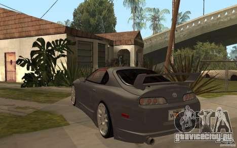 Toyota Supra Rz The Bloody Pearl 1998 для GTA San Andreas вид сзади слева