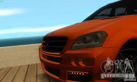 Mercedes-Benz ML63 AMG Brabus для GTA San Andreas вид сверху