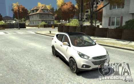 Hyundai IX35 2010 Beta для GTA 4 вид сзади