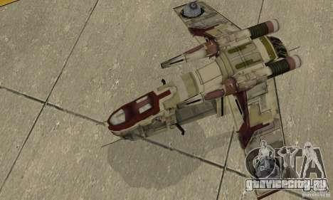 Republic Gunship из Star Wars для GTA San Andreas вид справа
