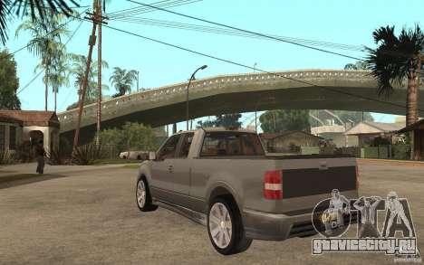 Saleen S331 Super Cab для GTA San Andreas вид сзади слева