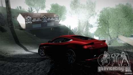 Aston Martin Vanquish V12 для GTA San Andreas вид сзади слева