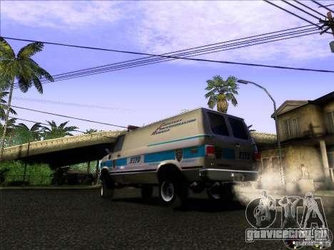Chevrolet VAN G20 NYPD SWAT для GTA San Andreas вид сзади слева