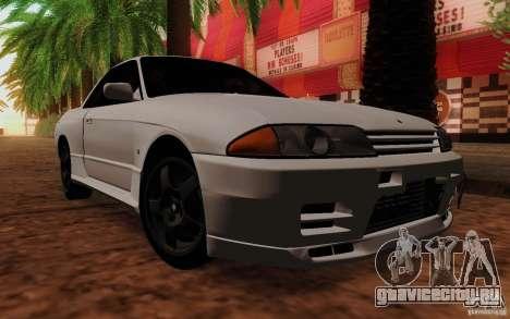 Nissan Skyline GT-R R32 1993 Tunable для GTA San Andreas вид сзади слева