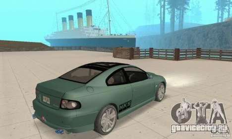 Vauxhall Monaro VXR Open SKY 2004 для GTA San Andreas вид слева
