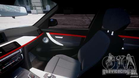 BMW 335i E30 2012 Sport Line v1.0 для GTA 4 вид сзади
