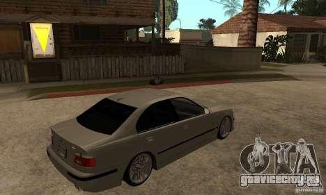 BMW E39 M5 Sedan для GTA San Andreas вид справа