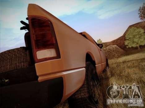 Dodge Ram 1500 4x4 для GTA San Andreas вид изнутри
