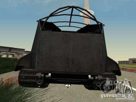 GW Typ E для GTA San Andreas вид сзади слева