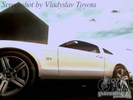 Ford Mustang GT 2011 для GTA San Andreas салон